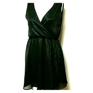 Banana Republic Size 2P Black  metallic dress